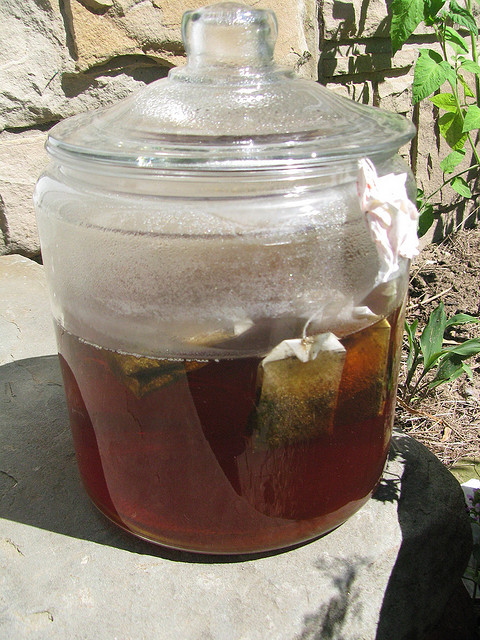 Brewing Iced Tea in the Sun