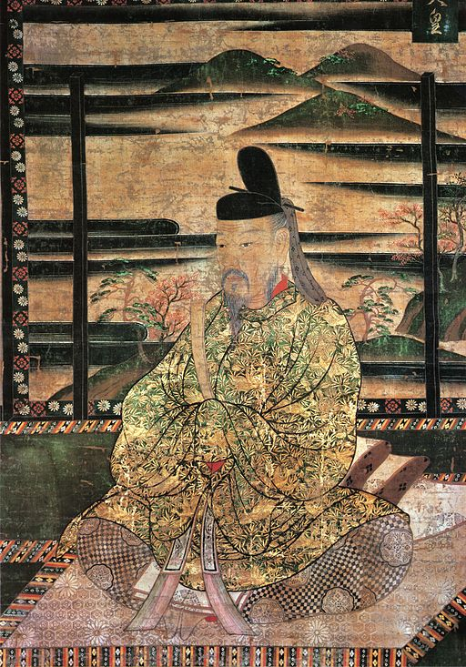 Very old painting of Emperor Saga of Japan.