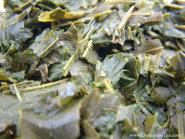 Photo of Japanese Sencha Tea after it has been infused.