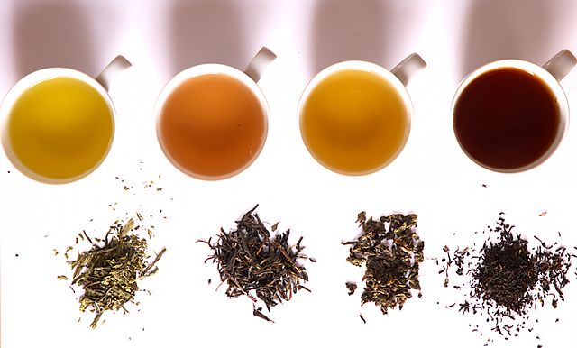 Different types of specialty tea.