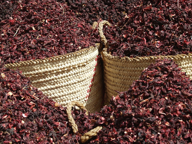 Dried Hibiscus in Aswan Souk