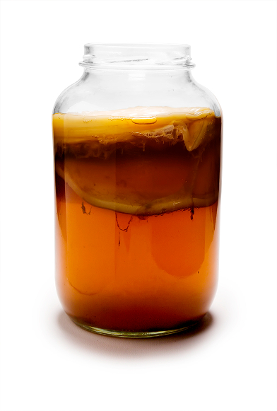 Glass Jar of Kombucha