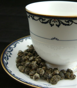 Pearl shaped tea is often found scented.