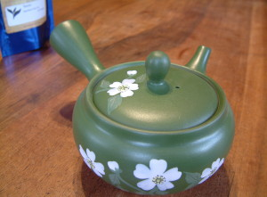Green tea is often made with a kyusu in Japan.