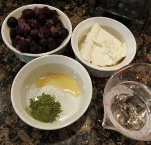 Ingredients for Blueberry Matcha Smoothies