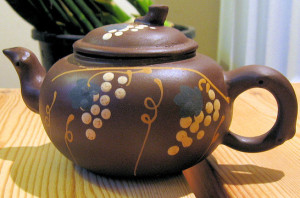 Painted Yixing Teapot