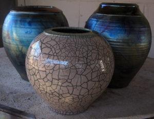 Raku Style Pottery