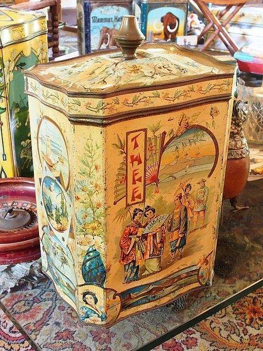 Old Antique Tea Tin