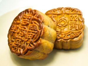 Two mooncakes