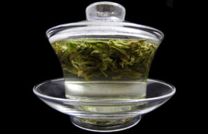 Green Tea in a Glass Gaiwan